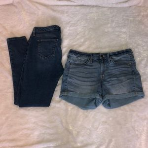jeans + shorts